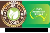 Healthier Tastier Foods logo