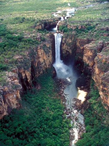 Jim Jim Falls – wet season, Kakadu National Park. Credit: Parks Australia.
