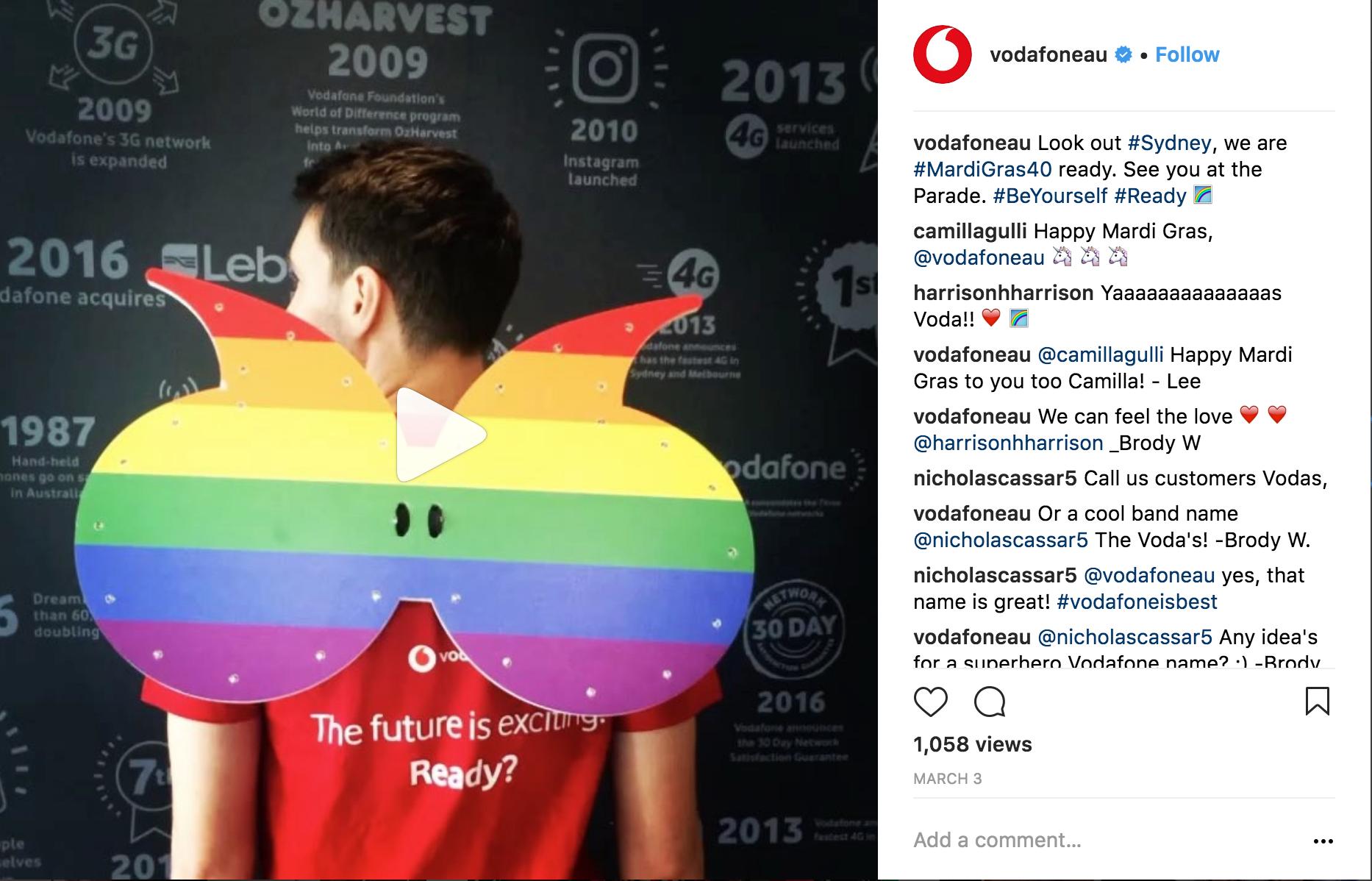 Vodafone Instagram